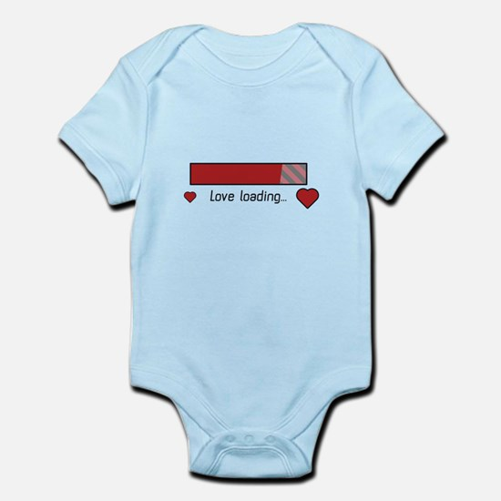 love loading gaming heart Body Suit