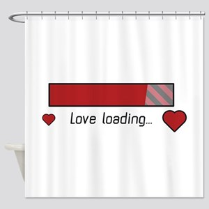 love loading gaming heart Shower Curtain