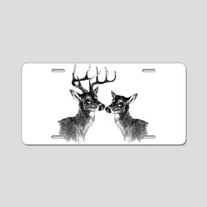 Buck and Doe Aluminum License Plate
