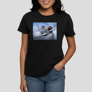 P-51 Mustang Coming at You Ash Grey T-Shirt