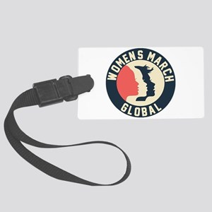 women march 2018 Large Luggage Tag