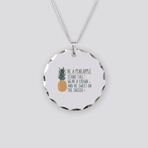 Be A Pineapple Necklace Circle Charm