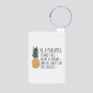 Be A Pineapple Aluminum Photo Keychain