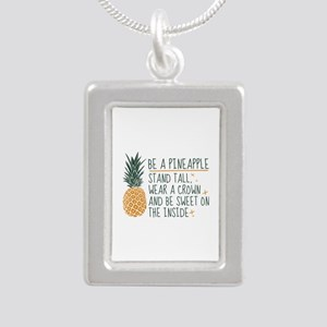 Be A Pineapple Silver Portrait Necklace