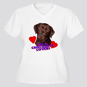 chocolate lover portrait Plus Size T-Shirt