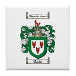 Todd Coat of Arms Tile Coaster