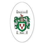 Todd Coat of Arms Oval Sticker