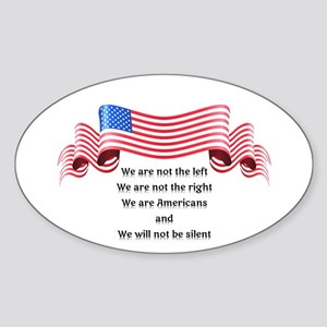 We Will Not Be Silent Sticker (Oval)