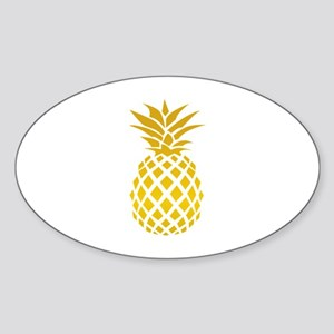 Pineapple Sticker (Oval)