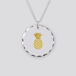 Pineapple Necklace Circle Charm
