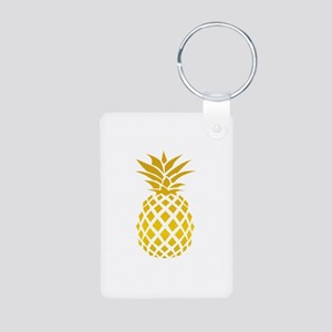 Pineapple Aluminum Photo Keychain
