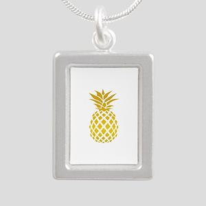 Pineapple Silver Portrait Necklace