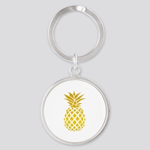 Pineapple Round Keychain