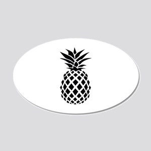Pineapple 22x14 Oval Wall Peel
