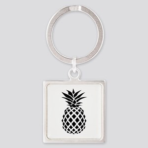 Pineapple Square Keychain