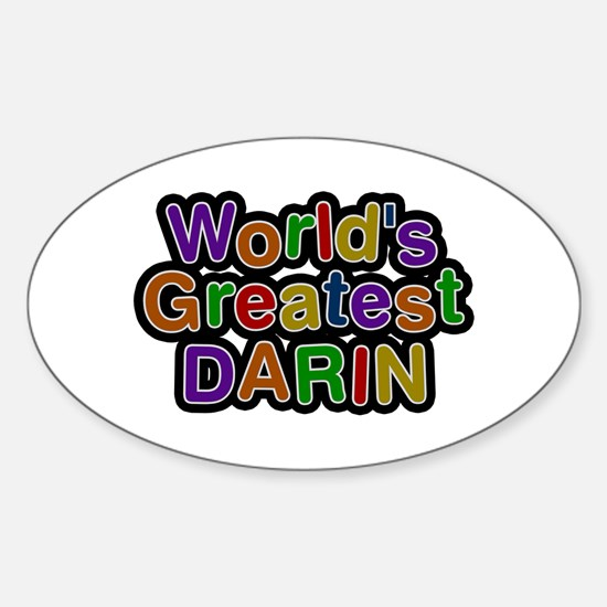 World's Greatest Darin Oval Decal