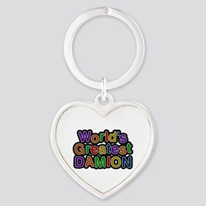 World's Greatest Damion Heart Keychain