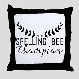 Spelling Bee Champian Throw Pillow