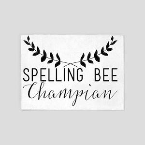Spelling Bee Champian 5'x7'Area Rug