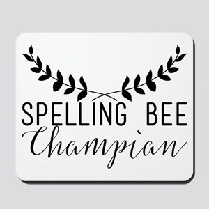 Spelling Bee Champian Mousepad