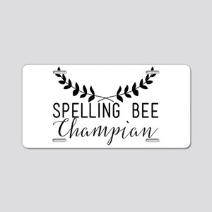 Spelling Bee Champian Aluminum License Plate