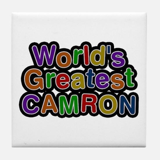 World's Greatest Camron Tile Coaster