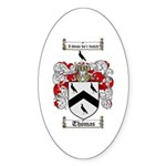 Thomas Coat of Arms Oval Sticker