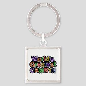 World's Greatest Camryn Square Keychain