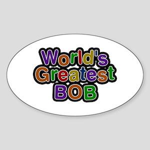 World's Greatest Bob Oval Sticker