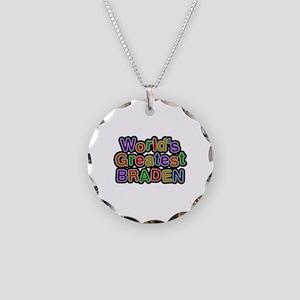 World's Greatest Braden Necklace Circle Charm