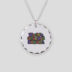 World's Greatest Brenda Necklace Circle Charm