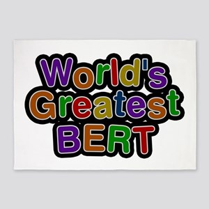 World's Greatest Bert 5'x7' Area Rug