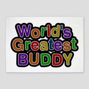 World's Greatest Buddy 5'x7' Area Rug