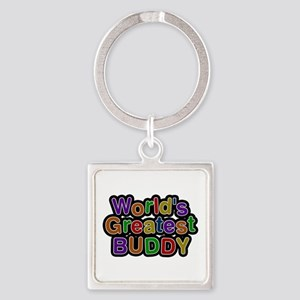 World's Greatest Buddy Square Keychain