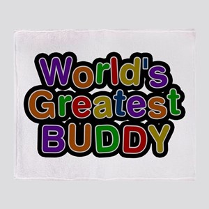 World's Greatest Buddy Throw Blanket