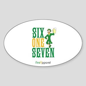 617 Area Code Celtics Sticker (oval)