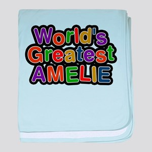 Worlds Greatest Amelie baby blanket