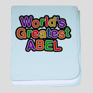 Worlds Greatest Abel baby blanket