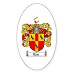 Tate Coat of Arms Oval Sticker