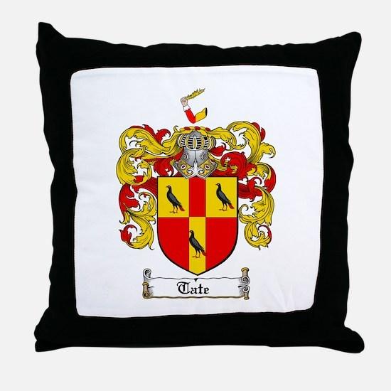 Tate Coat of Arms Throw Pillow