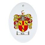 Tate Coat of Arms Oval Ornament