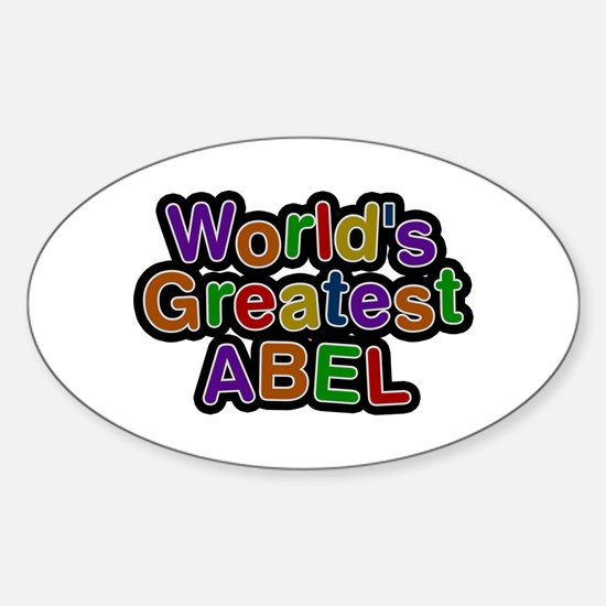 World's Greatest Abel Oval Decal