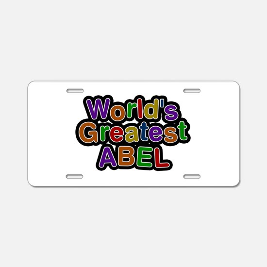 World's Greatest Abel Aluminum License Plate