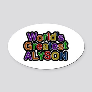 World's Greatest Alyson Oval Car Magnet