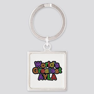 World's Greatest Ayla Square Keychain