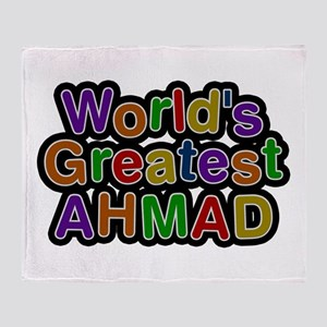World's Greatest Ahmad Throw Blanket