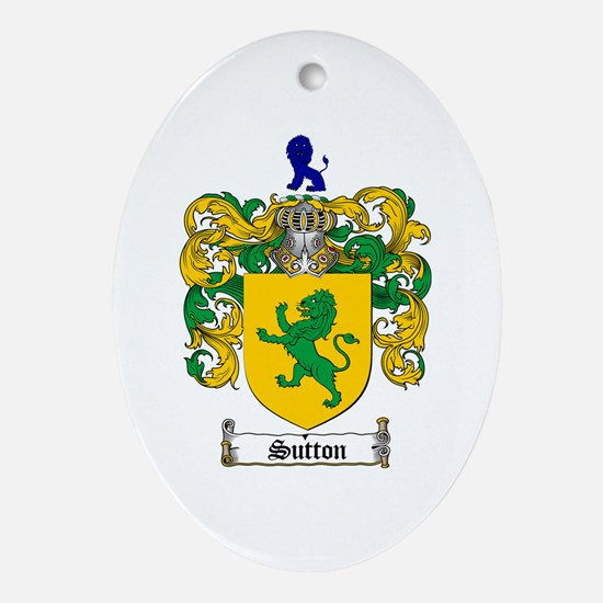 Sutton Coat of Arms Oval Ornament