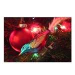 Christmas Bird Ornament Postcards (package Of 8)