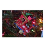 Christmas Train Ornament Postcards (package Of 8)