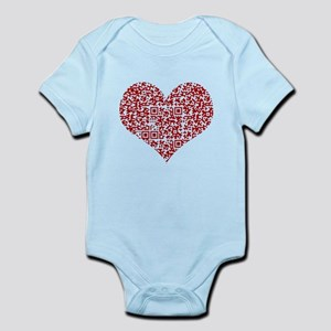 I Love You! I love you! I love you! QR C Body Suit